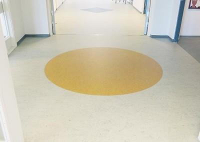 Linoleum designgulve på Havrehedskolen